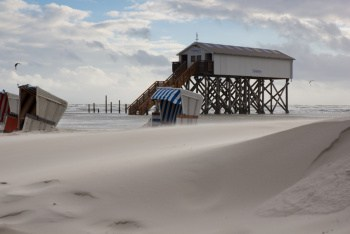 Starker Wind in Sankt Peter Ording