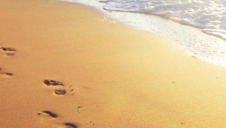 Sandstrand Spuren
