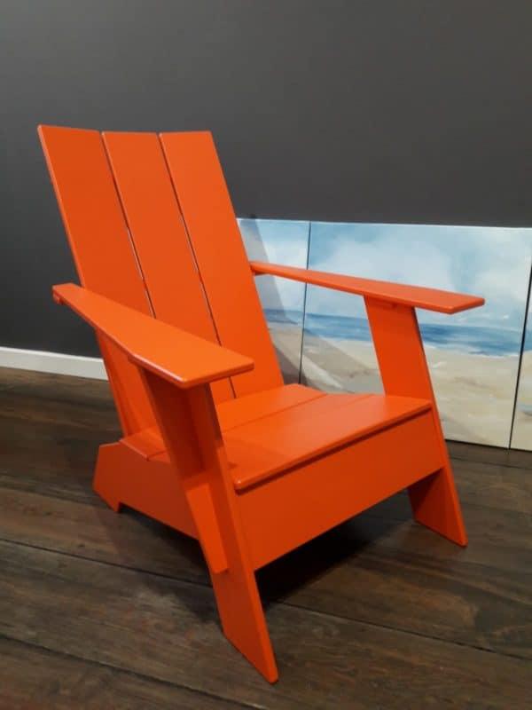 Adirondack Chair 3slat flat sunset orange LollDesign BeSeaside Hamburg