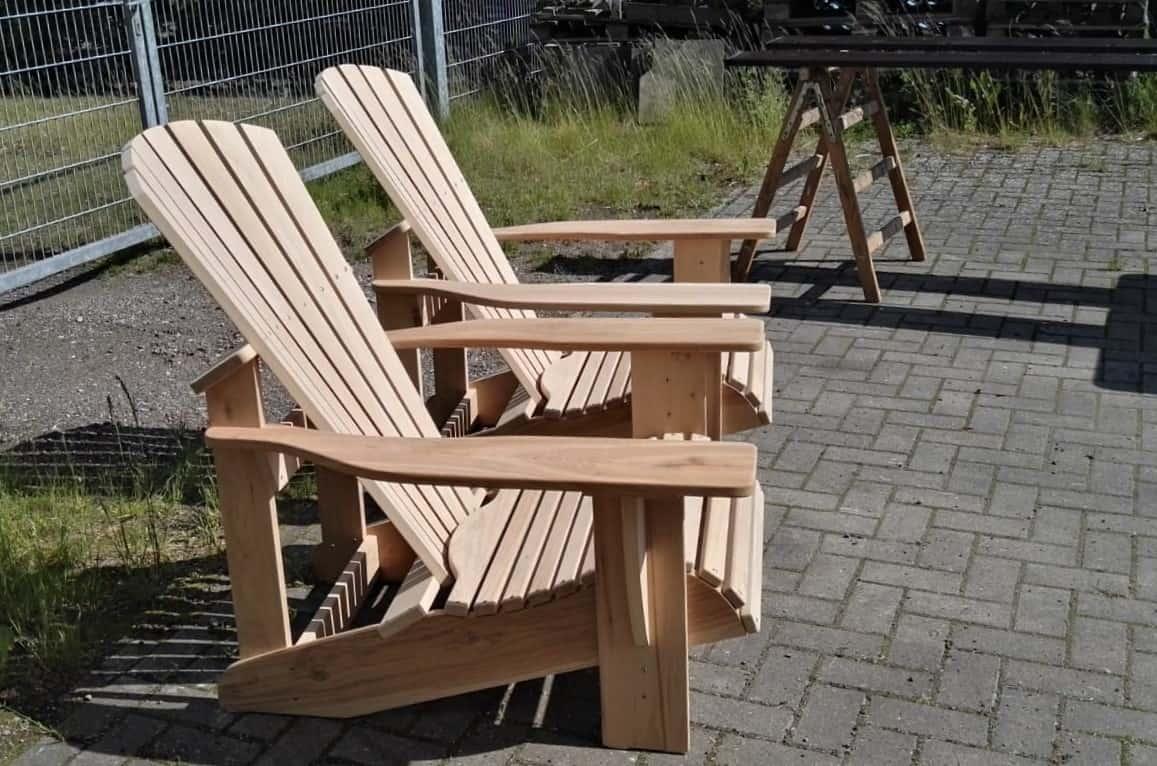 BeSeaside Adirondack Chair Seasider RUSTICO Alsterstuhl Eiche