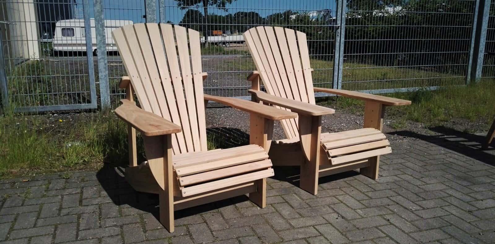 BeSeaside Seasider Chair RUSTICO Adirondack Chair Eiche