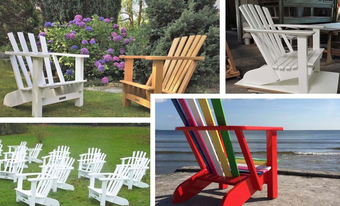 BeSeaside Alsterstuhl Ein Stück Hamburg Adirondack Chair