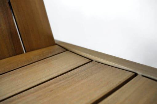 BeSeaside ESPRESSO Premium Adirondack Chair Detail Sitzflaeche