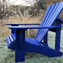 BeSeaside CLASSIC Adirondack Chair Eiche ultramarinblau lackiert