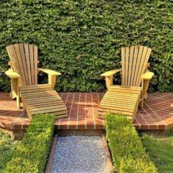 Premium Adirondack Chairs BeSeaside CLASSIC mit Fussbank klappbar