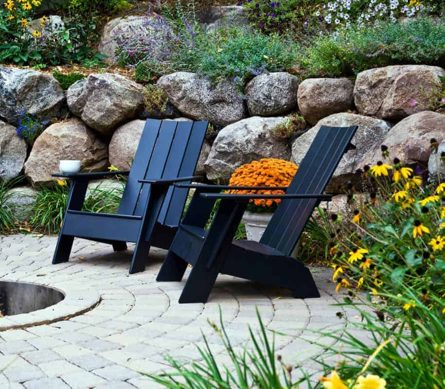 loll designs adirondack chair 4slat flat flat firepit patio foto copyright lolldesigns