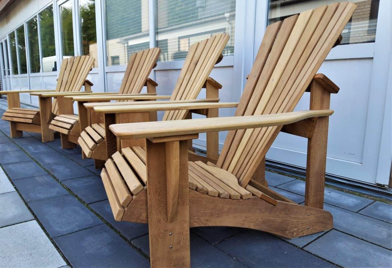 BeSeaside CLASSIC Adirondack Chair DeckChair IROKO Holz geoelt