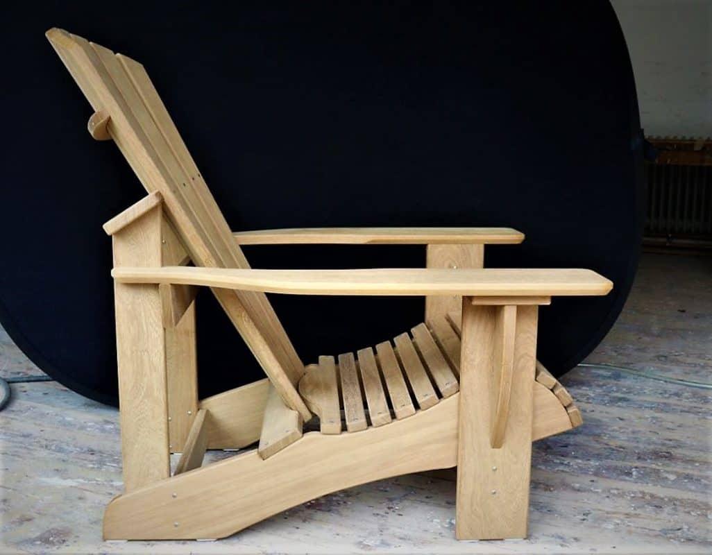 BeSeaside CLASSIC Chair Premium Adirondack Chair aus IROKO Vollholz unbehandelt
