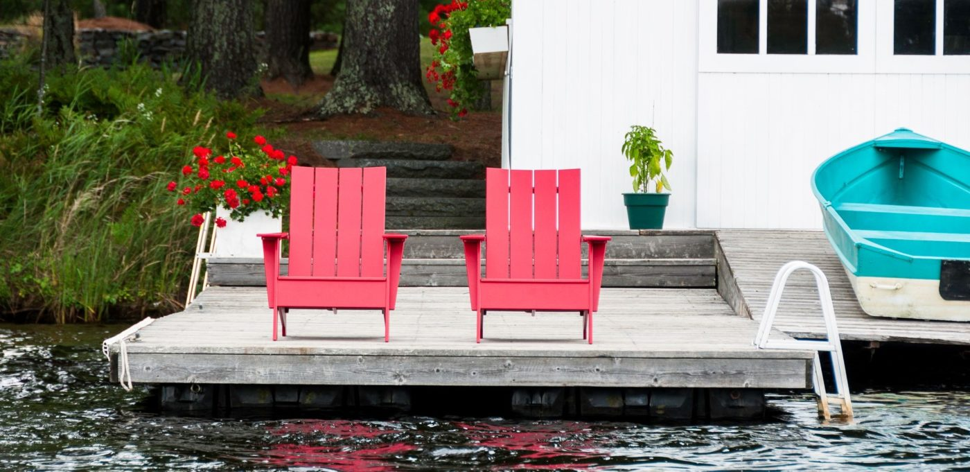 BeSeaside LOLLDESIGNS Adirondack Chair ADK 4sat flat compact AD 4SFC apple red ROT Ueremium Adirondack Chair Kunststoff Kopie