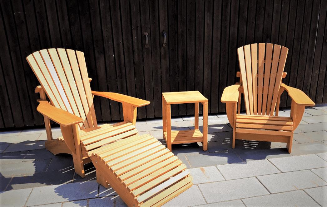Adirondack Chair BeSeaside CLASSIC Eiche Set Kopie