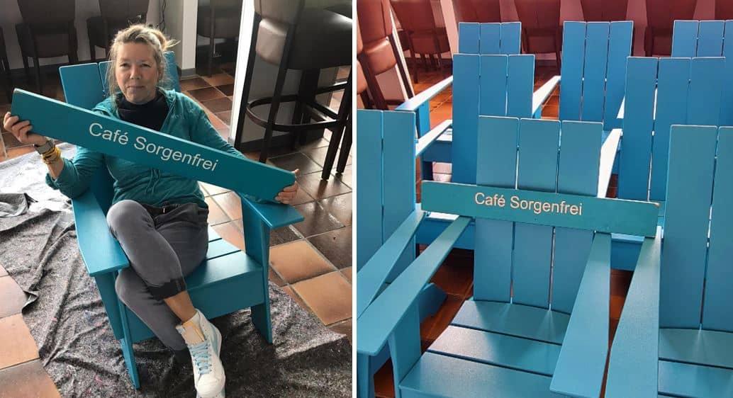 Cafe Sorgenfrei Medley tuerkise Chairs Loll Designs