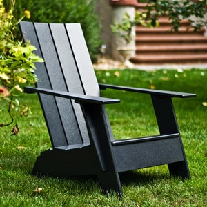 lolldesigns premium adirondack chair adk 4sat flat ad 4sfc black schwarz