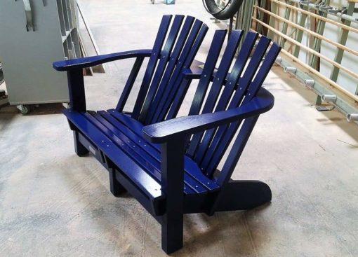 BeSeaside Alsterstuhl - lackiert - RAL 5012 Kobaltblau