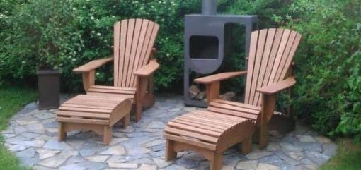 BeSeaside Seasider Chairs BASIC geoelt Teak Fussbank