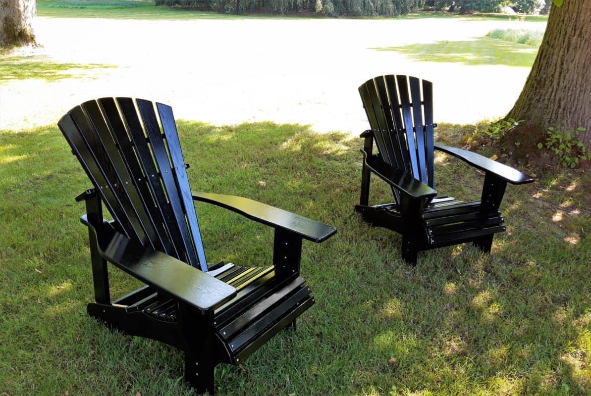 beseaside classic chairs adirondack chair premium eiche lackiert ral 9005 tiefschwarz glaenzend park wentorf bei hamburg 2