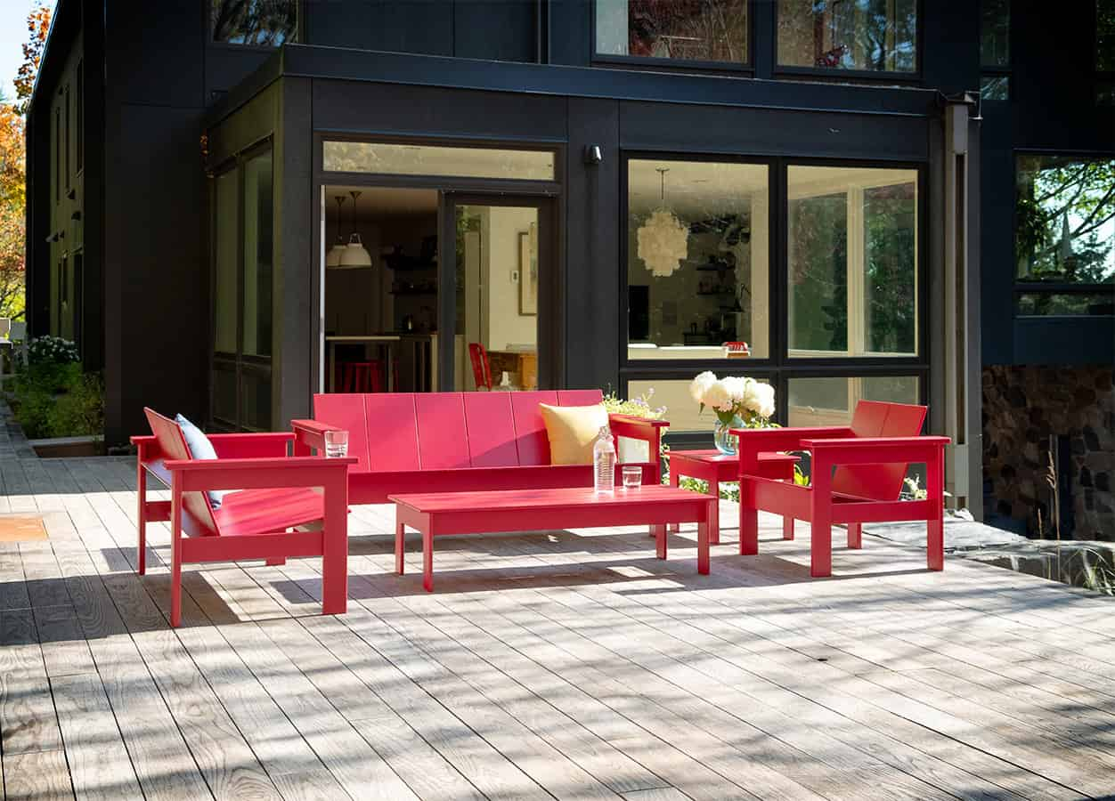 Hennepin Zweisitzer | Gartenbank aus Kunststoff von Loll Designs