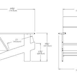 LOLL Designs Lollygagger Lounge Chair Konstruktionszeichnung
