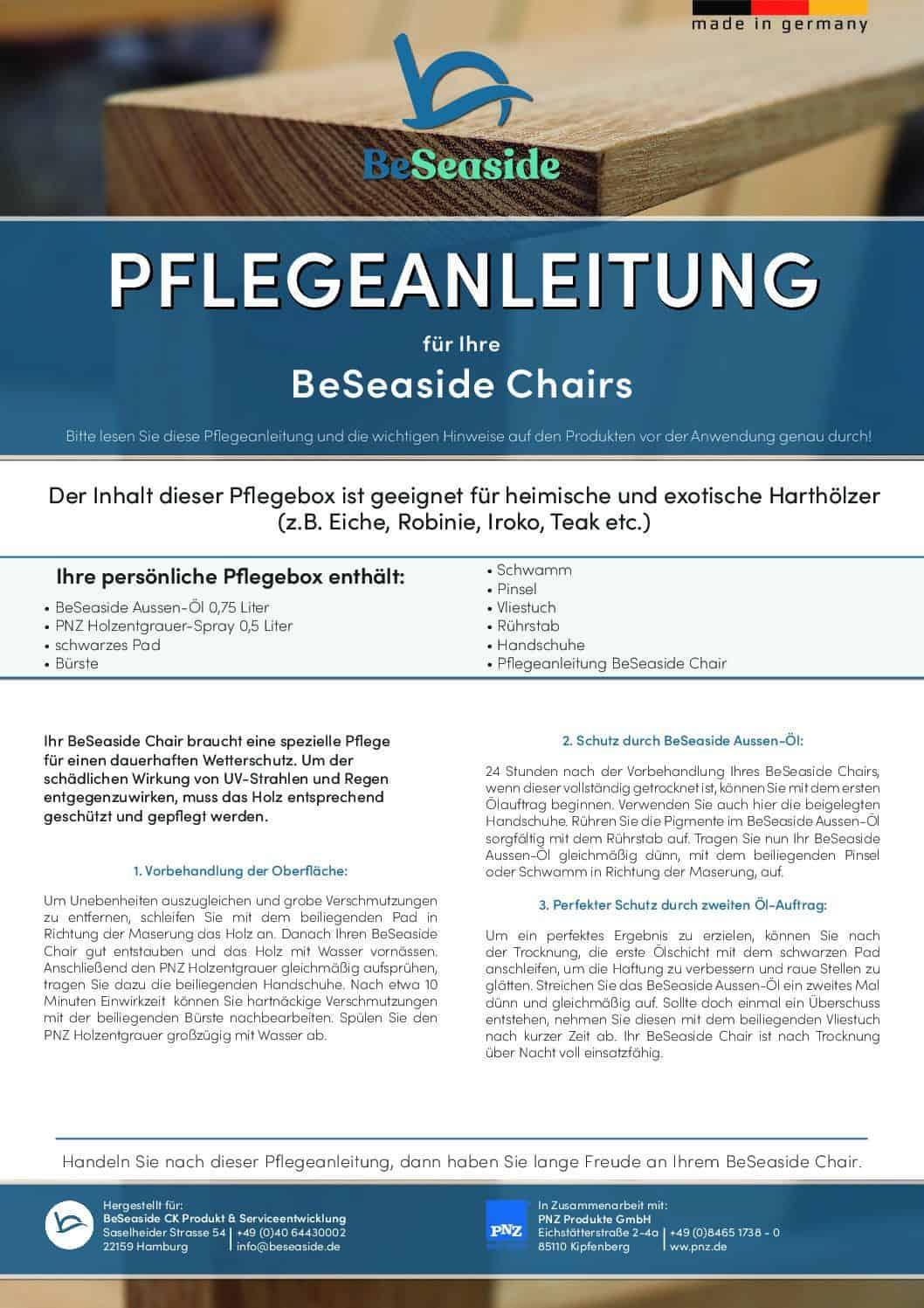 beseaside pflegeanleitung gartenmoebel aus holz pflegebox pdf