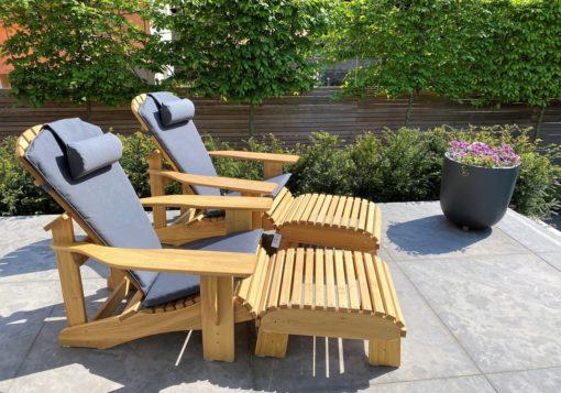 beseaside adirondack chair modell classic robinie massiv geoelt natur mit fussbank und sitzpolstern anthrazit nrw lieblingsplatz scaled