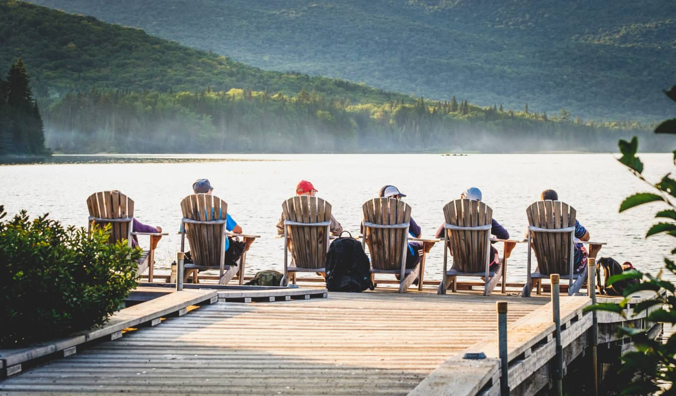 Adirondack Chair Geschichte Ensemble am See