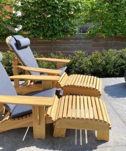 beseaside adirondack chair modell classic robinie massiv geoelt natur mit fussbank und sitzpolstern anthrazit nrw lieblingsplatz