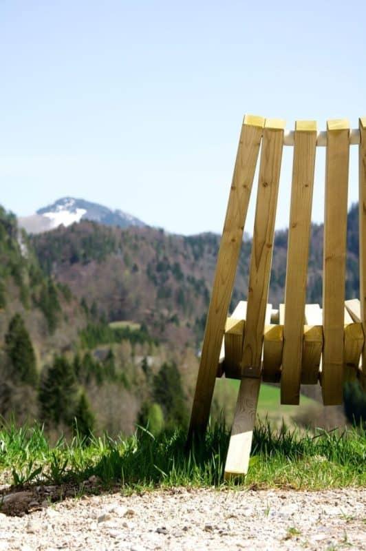 Weltevree Fieldchair Klappsessel mit Blick auf die Berge